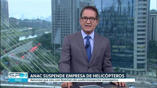 Anac suspende empresa dona de helicóptero que caiu na segunda-feira