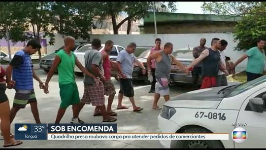 Quadrilha presa roubou mais de R$ 3 milhões em cargas; comerciantes encomendavam mercadorias