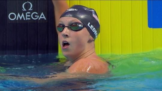 A sucessora de Phelps: invicta, Katie Ledecky chega a 12 ouros e bate recorde