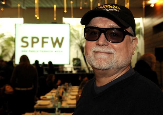 Lula Rodrigues durante cobertura do SPFW (Foto: Getty Images)