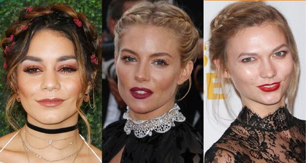 Vanessa Hudgens, Sienna Miller e Karlie Kloss (Foto: Getty Images)