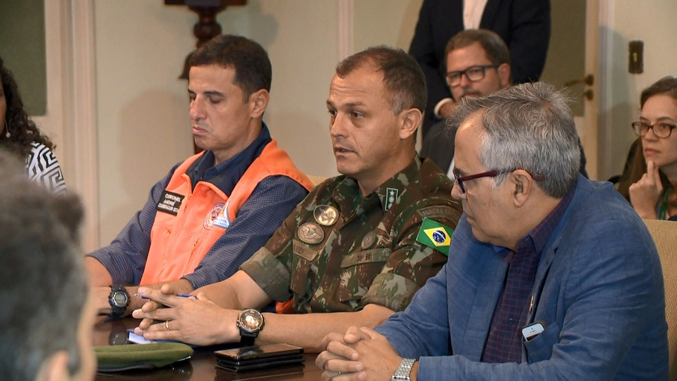 Coronel Alves, comandante do 38º Batalhão de Infantaria — Foto: Reprodução/TV Gazeta