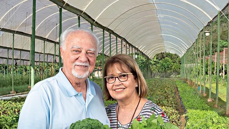 Sítio do Moinho - John Richard Lewis Thompson, o Dick, e sua mulher, Ângela  (Foto: Fernando Martinho)