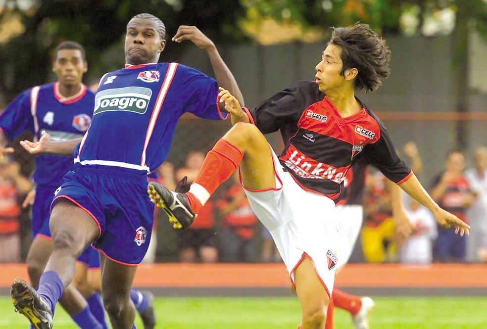 99e81935ae39e ... Atlético-GO foi campeão da Divisão de acesso em 2005 — Foto  Wagnas  Cabral