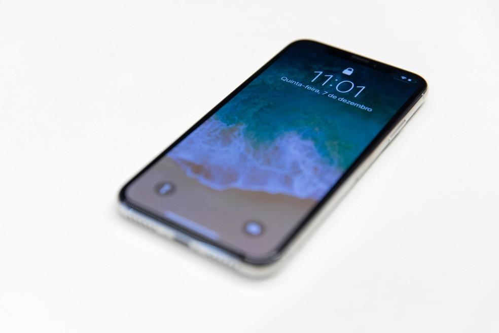 iPhone X, novo smartphone da Apple (Foto: Marcelo Brandt/G1)