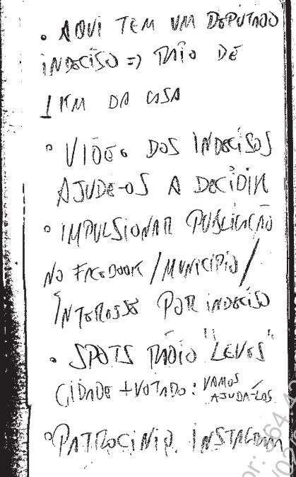 Anotações encontradas pela PF em poder de Rodrigo Rocha Loures (Foto: Reprodução)