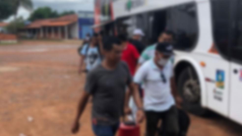 Ônibus de transporte clandestino vindo do RN é apreendido com 40 passageiros no Maranhão — Foto: Divulgação/ANTT