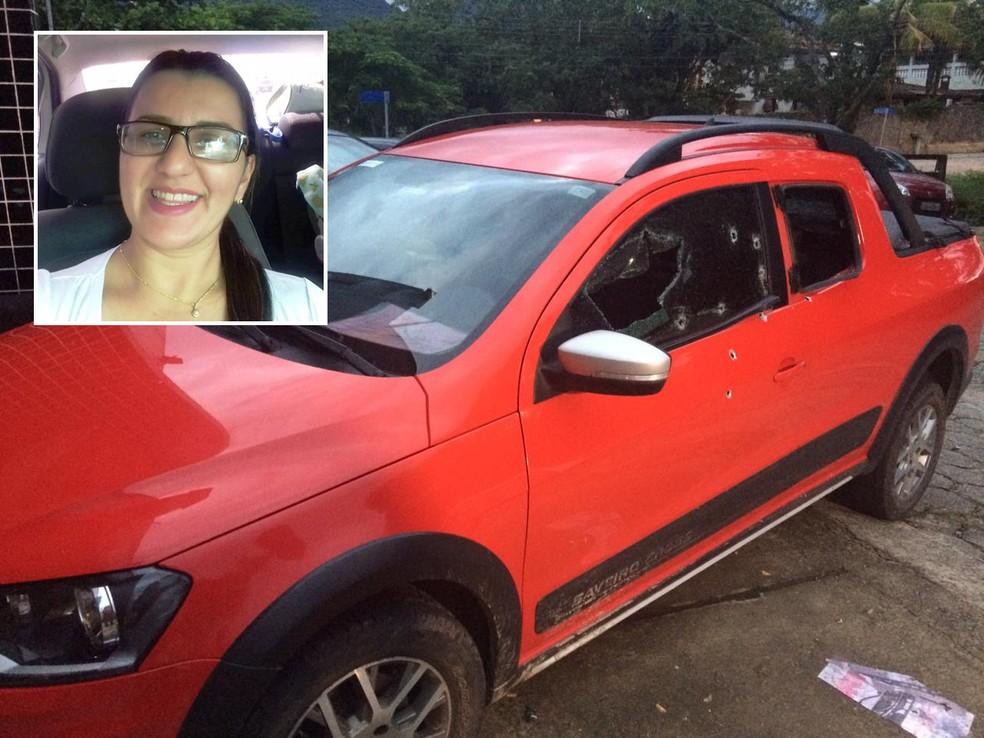 Fernanda Pedroso Calixto, de 36 anos, foi vítima de tentativa de execução em Peruíbe, SP — Foto: Adriana Cutino/G1