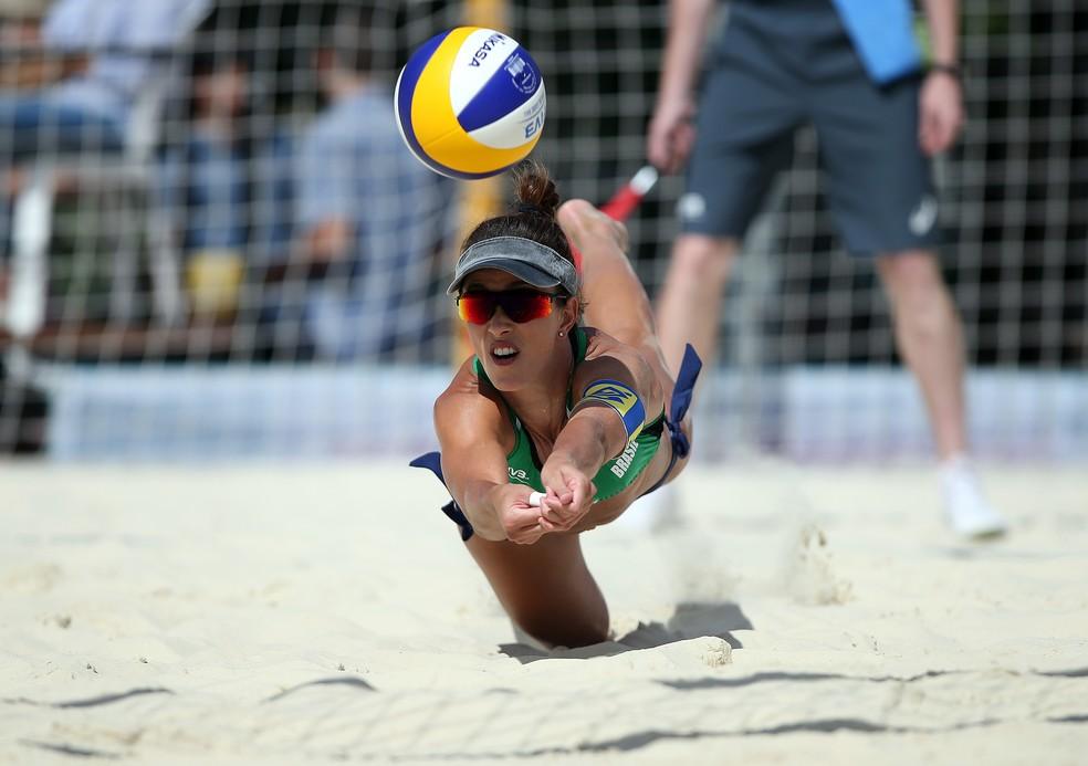 Brasil na etapa de Moscou do Circuito Mundial de Vôlei de Praia — Foto: FIVB