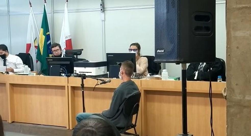 Julgamento de Adilson Evaristo da Silva, acusado de tentar matar a ex-mulher, em BH — Foto: Joubert Oliveira/ Fórum Lafayette/ Divulgação