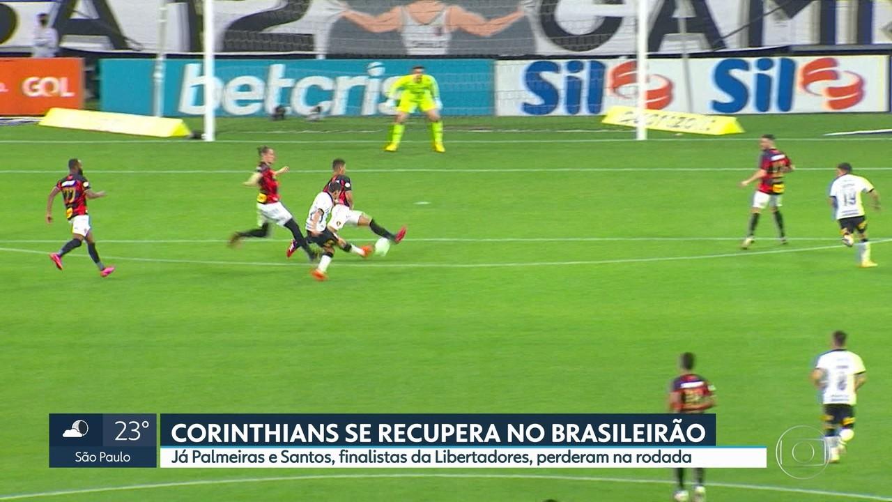 Corinthians vence Sport e se recupera no Brasileirão