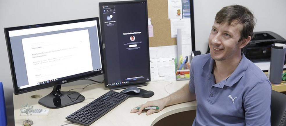 Pesquisador Henrique Mews, da Ufac, participou de pesquisa divulgada em revista científica  — Foto: Asscom Ufac