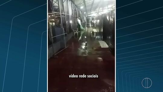 Chuva forte alaga bairros de Campos e Pádua, no RJ