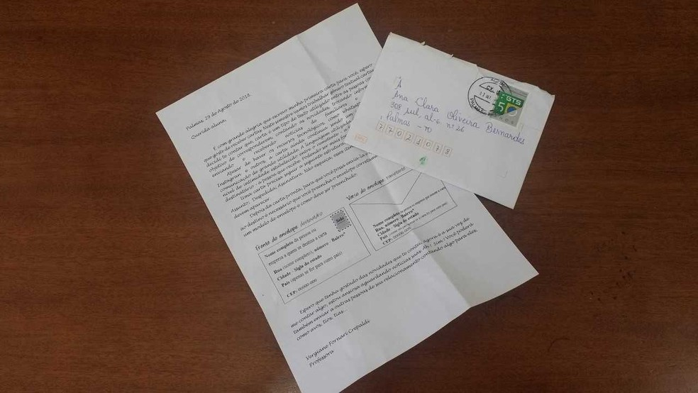 Cartas foram enviadas para 70 alunos — Foto: Walquerley Ribeiro/Prefeitura de Palmas