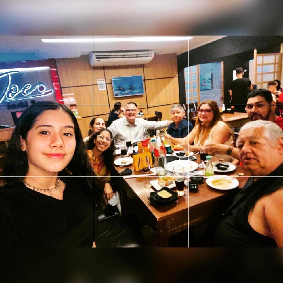 Uma das últimas fotos da família reunida — Foto: Marcelo Martins/Arquivo Pessoal