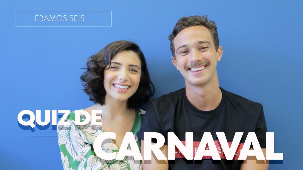 Rayssa Bratillieri e André Luiz Frambach enfrentam o Quiz de Carnaval