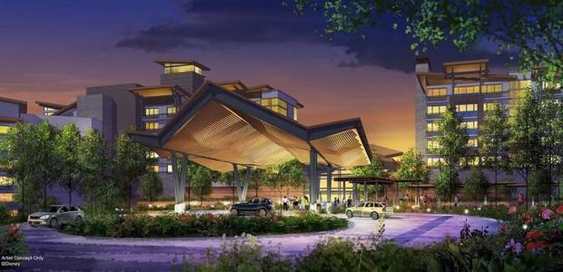 O resort oferecerá mais de 900 quartos que estarão em contato com a natureza (Foto: Disney/ Reprodução)