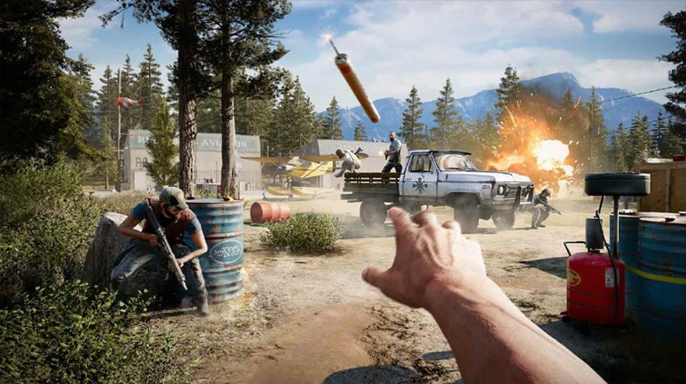 Fary Cry 5 está entre os games em promoção da Ubisoft para a Black Friday 2019 — Foto: Reprodução/PlayStation Store