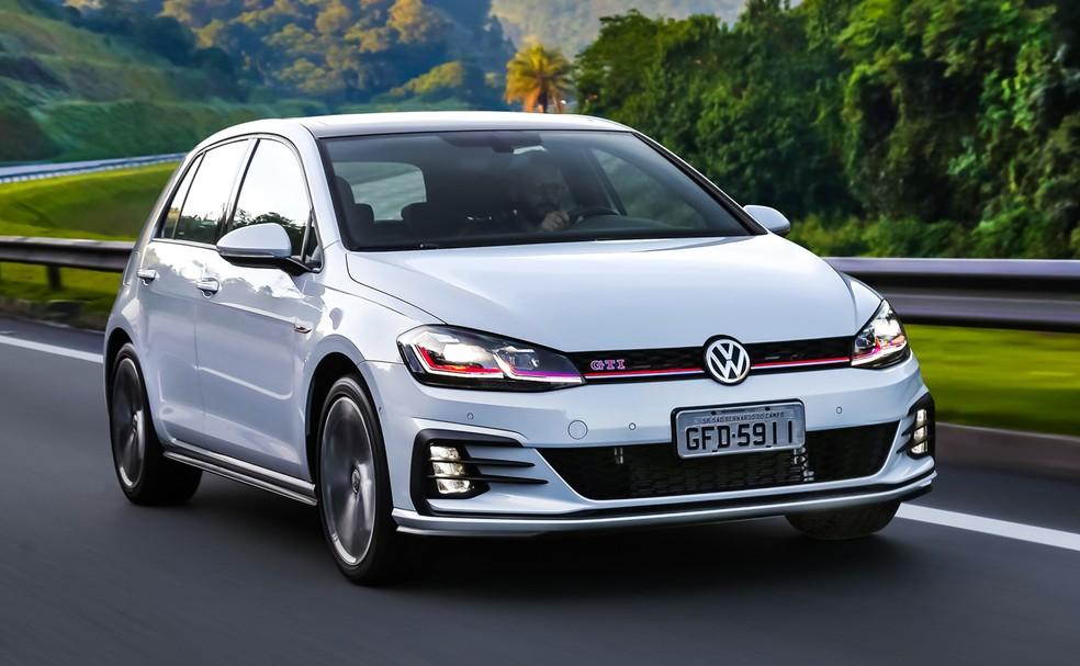Golf GTI é a única opção para o hatch no momento — Foto: Divulgação/Volkswagen