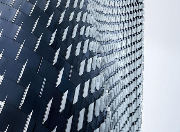 He Zhenuan, da China, clicou detalhe do Banco da China, projeto de Skidmore, Owings & Merrill LLP (Foto: Architectural Photography Awards/Reprodução)
