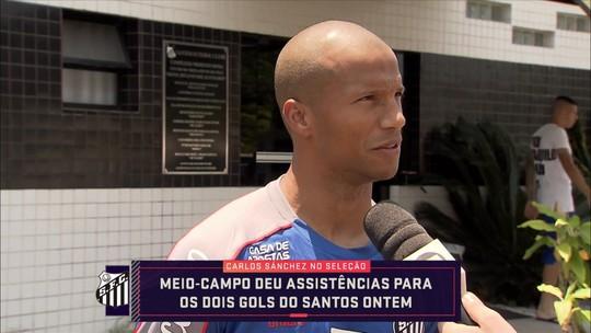 Decisivo, artilheiro e líder em assistências: veja números de Sánchez, protagonista do Santos