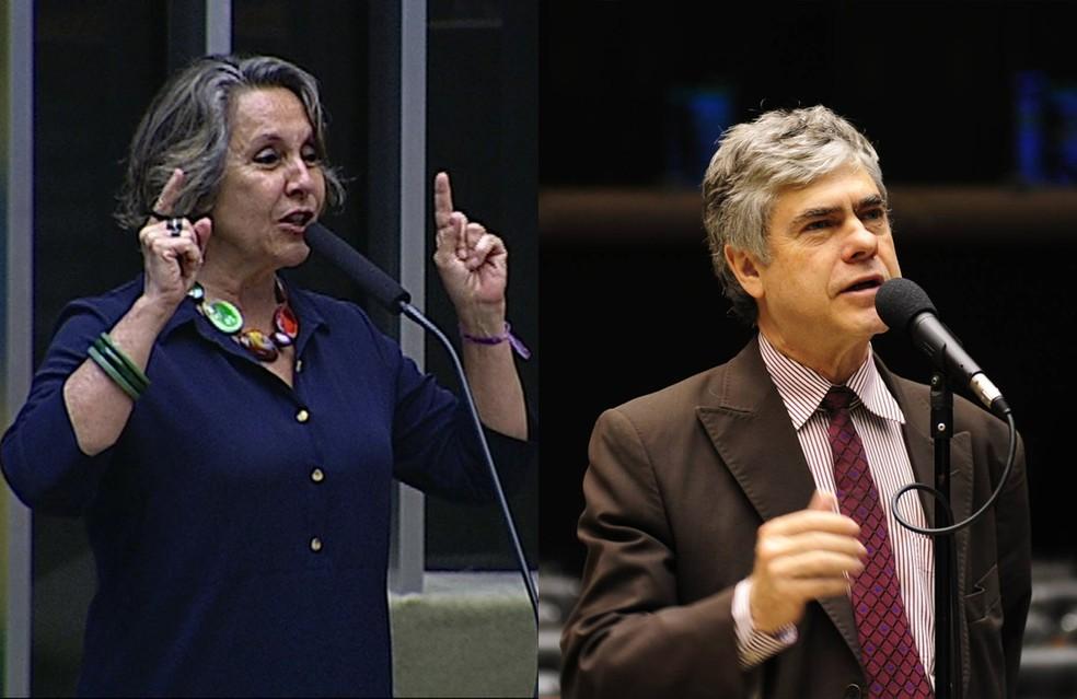 Érika Kokay e Augusto Carvalho devem votar a favor da denúncia contra Michel Temer (Foto: Reprodução)
