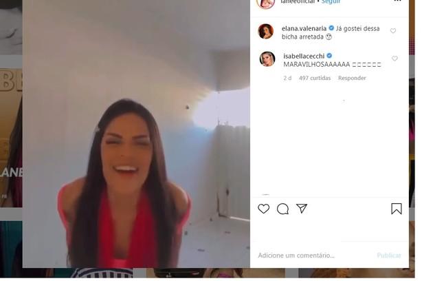 Flayslane, do grupo Pipoca, tem a torcida das exs-'BBB's Elana Valenária e Isabella Cecchi (Foto: Reprodução/Instagram)