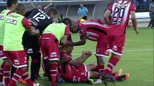 Os gols de CRB 1 x 1 Guarani pela 26ª rodada do Campeonato Brasileiro Série B
