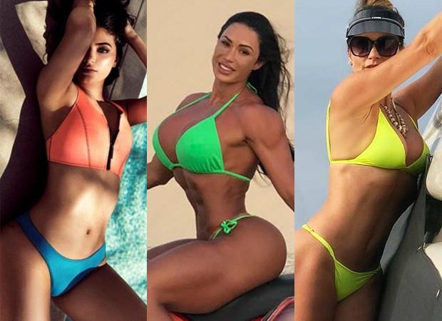 Kylie Jenner, Gracyanne Barbosa e Flávia Alessandra apostam em looks neon (Foto: Reprodução/Instagram)