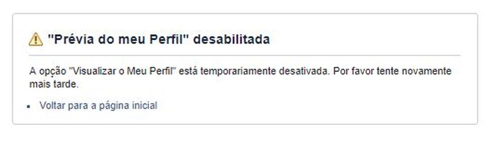 Função afetada no Facebook foi desatualizada — Foto: Reprodução/ Taysa Coelho