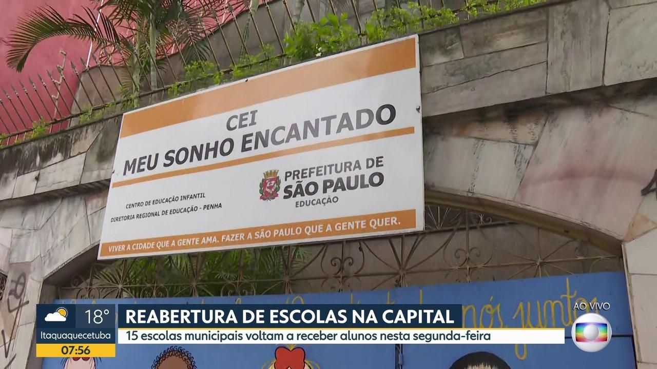 15 escolas municipais de SP reabrem nesta segunda para atividades extracurriculares