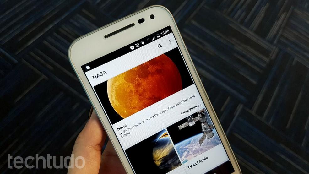 NASA app irá exibir