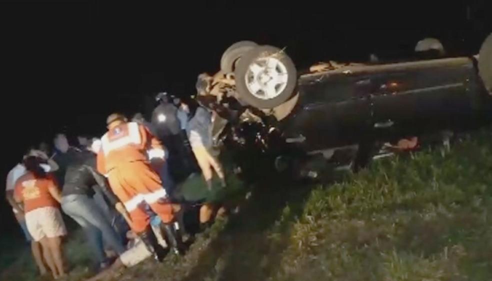 Cinco pessoas ficaram feridas no acidente provocado pelo vereador embriagado em Ocauçu  (Foto: Arquivo pessoal)