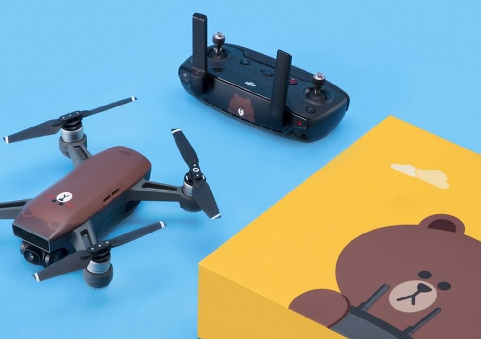 DJI lança drone Spark com desenho do urso do Line Friends  (Foto: Divulgação/DJI)