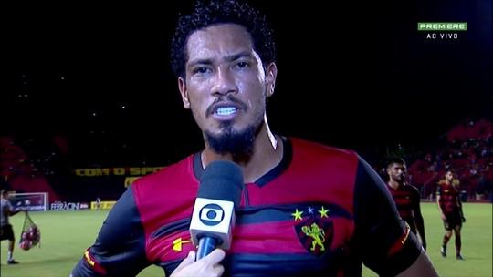Hernane se desculpa com torcedor do Sport por ter cometido falhas