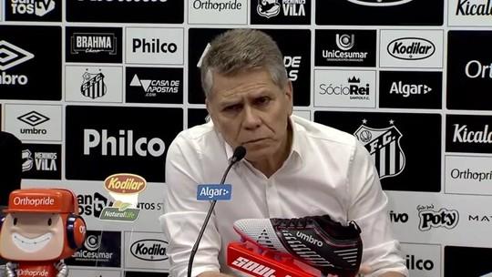 """Autuori mantém afastamento de Cueva e rebate Peres no Santos: """"Não permito interferência"""""""