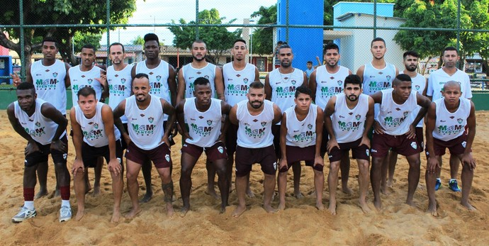 Parte do elenco que representará o Tricolor no Campeonato Roraimense; boa parte deles já no BID  (Foto: Imagem/Tércio Neto)