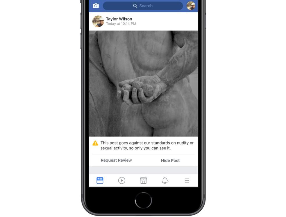 Facebook vai deixar usuário apelar de remoção de post; imagem mostra um exemplo de postagem que poderia ter sido removida incorretamente e agora poderá ser contestada. (Foto: Divulgação/Facebook)