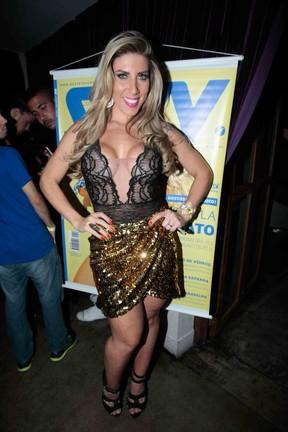 Tati Minerato em festa em São Paulo (Foto: Leo Franco/ Ag. News)