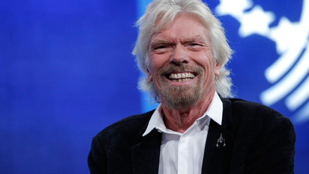 Sir Richard Branson , da Virgin Galactic , participa da sessão de debate durante o encontro anual Clinton Global Initiative no Sheraton New York Hotel & Towers em Nova York (Foto: JP Yim/Getty Images)