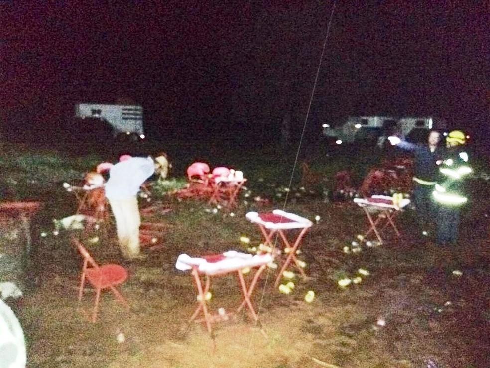 -  Incidente ocorreu em evento de laçada de novilhas em uma fazenda no Distrito de Honorópolis  Foto: Corpo de Bombeiros/Divulgação