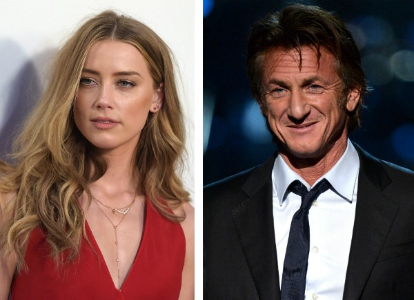 A atriz Amber Heard e o ator Sean Penn (Foto: Getty Images)