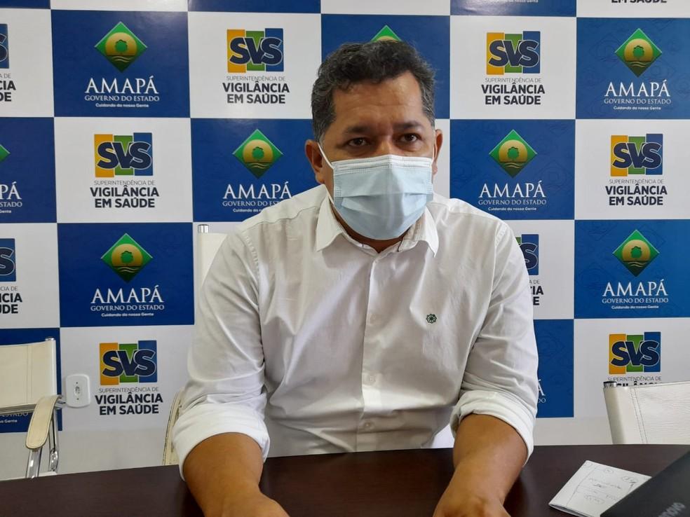 Dorinaldo Malafaia, chefe da Superintendência de Vigilância em Saúde do Amapá — Foto: Victor Vidigal/G1