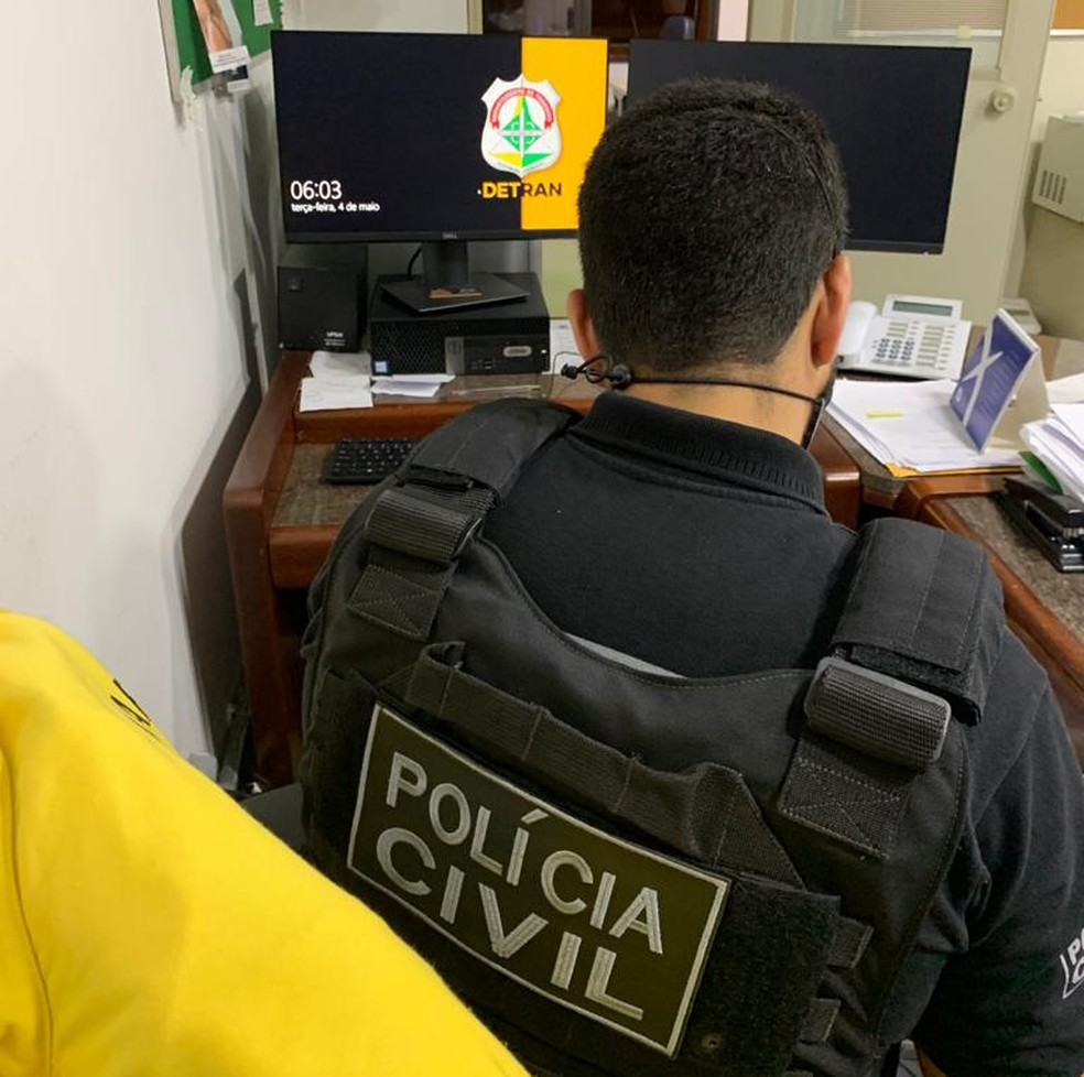 Polícia Civil e Ministério Público investigam fraudes em contratos para manutenção de veículos do Detran-DF — Foto: PCDF/Divulgação