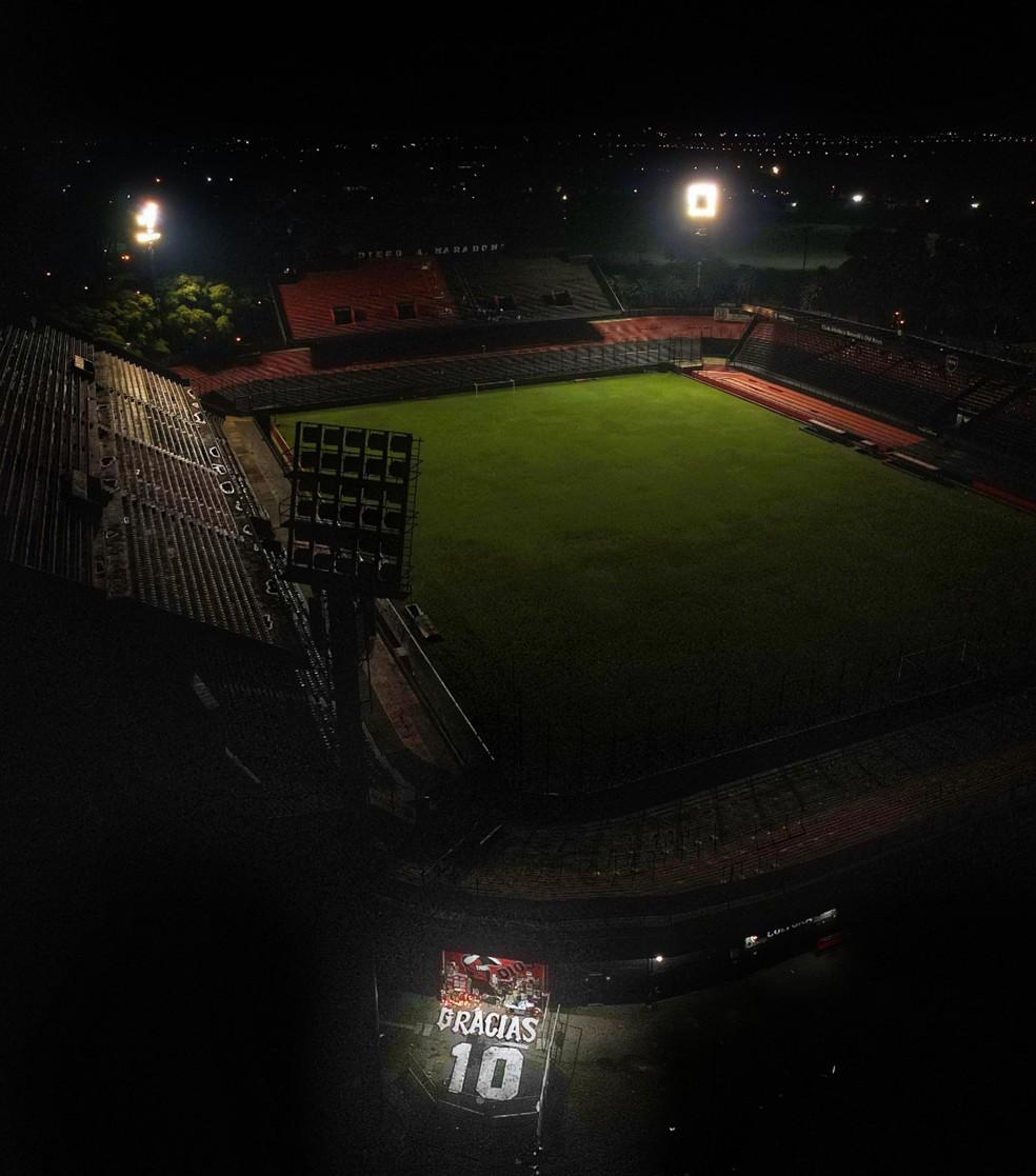 Estádio do Newell's Old Boys Maradona — Foto: Reprodução / Twitter
