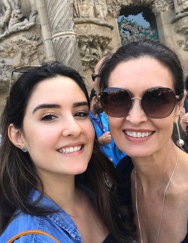 Fátima Bernardes e Laura (Foto: Reprodução)