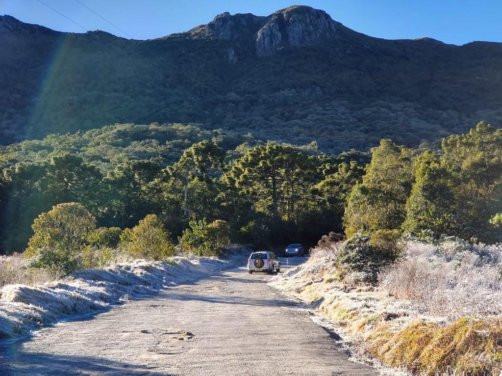 Parque Nacional do Itatiaia quebra novo recorde, marca -8,1ºC e congela vegetação — Foto: Arquivo Pessoal