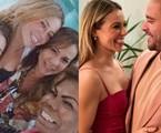 Paolla Oliveira entre a irmã de Diogo, Clarisse Nogueira, e amigas do cantor | Reprodução