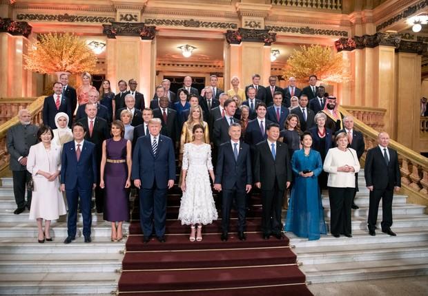 Presidentes e primeiros-ministros em reunião do G-20, na Argentina (Foto: Guido Bergmann/Bundesregierung via Getty Images)