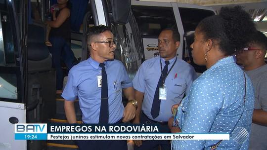 Empresas da rodoviária de Salvador contratam funcionários extras por causa do São João